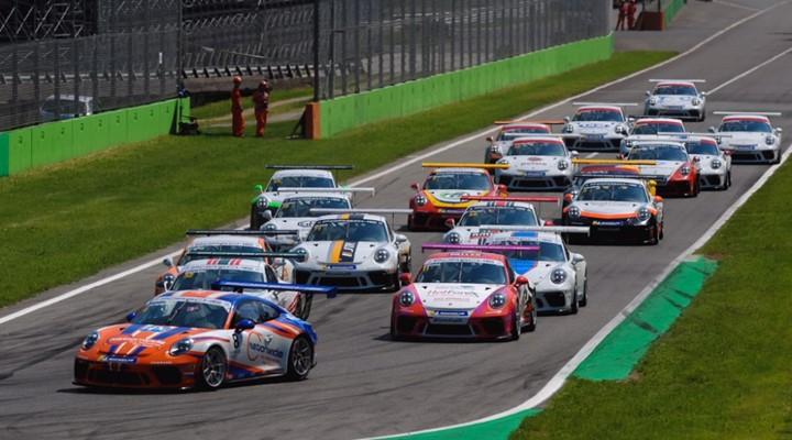 Porsche Carrera Cup GB stars at Monza
